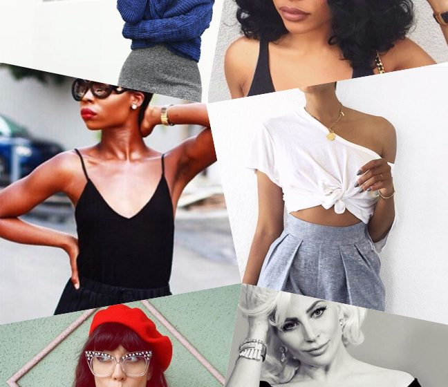 hairstyles and necklines