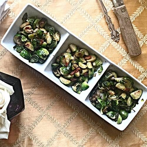 Bacon Brussels Sprouts quick dishes girl boss